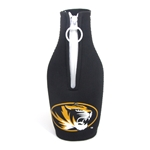 Mizzou Oval Tiger Head Black Bottle Cover with Zipper
