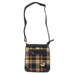 Mizzou Tiger Head Official Plaid Cross Body Purse