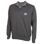 Mizzou Tiger Head Cutter & Buck Grey 1/4 Zip Sweater