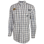 Mizzou Columbia White Plaid Omni-Shade Fishing Shirt