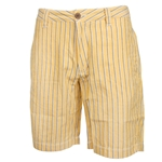"Mizzou Men's Black & White Striped 9"" Gold Shorts"