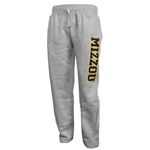 Mizzou Grey Open Bottom Sweatpants