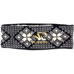 Mizzou Women's Tiger Head Sherpa Lined Black Headband
