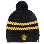 Mizzou Women's Retro Tiger Head Black & Gold Beanie