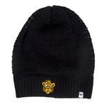 Mizzou Women's Retro Tiger Head Black Slouch Beanie