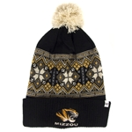 Mizzou Women's Tiger Head Black & Gold Beanie