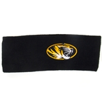 Mizzou Oval Tiger Head Black Knit Headband