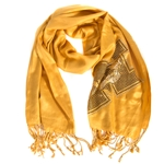 Mizzou Tiger Head Gold Sequin Pashmina