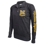 Mizzou Block M Black 1/4 Button Up Sweatshirt