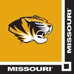 Missouri Tiger Head Black & Gold Napkins