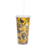 Mizzou Gold Official Paisley Tumbler with Straw