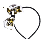 Mizzou Tiger Head Black Headband with Bow