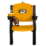 Mizzou Oval Tiger Head Black & Gold Stadium Seat Ornament