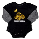 This is How Tigers Rolls Black Long Sleeve Onesie