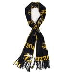 Mizzou Oval Tiger Head Black & Gold Fleece Scarf