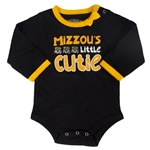 Mizzou's Little Cutie Black Onesie