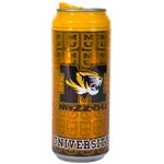 Mizzou Tiger Head Gold Tumbler
