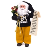 Mizzou Tiger Head Santa Ornament