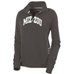 Mizzou Tigers JanSport Women's Charcoal 1/4 Zip Sweatshirt