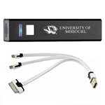 University of Missouri Tiger Head Black Rechargeable Power Bank
