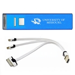 University of Missouri Tiger Head Blue Rechargeable Power Bank