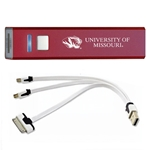 University of Missouri Tiger Head Burgundy Rechargeable Power Bank