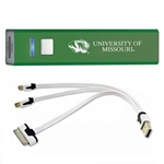 University of Missouri Tiger Head Green Rechargeable Power Bank