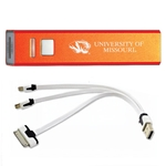 University of Missouri Tiger Head Orange Rechargeable Power Bank