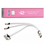 University of Missouri Tiger Head Pink Rechargeable Power Bank