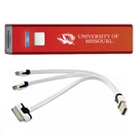 University of Missouri Tiger Head Red Rechargeable Power Bank