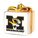 Mizzou Wrapped Present Ornament