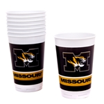 Missouri Tiger Head Black & Gold Cup Set