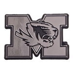 Mizzou Tiger Head Chrome Car Sticker