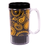 Mizzou Black Official Paisley Mug with Handle