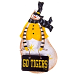 Mizzou Tigers Metal Snowman Ornament