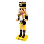 Mizzou Tiger Head Black & Gold Drummer Nutcracker
