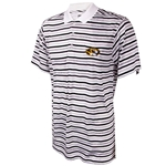 Mizzou Ping Oval Tiger Head White & Black Striped Polo
