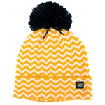 Mizzou Gold & White Chevron Beanie