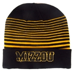 Mizzou Under Armour Black & Gold Striped Beanie