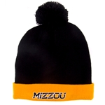 Mizzou Under Armour Black Beanie with Gold Cuff