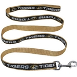Mizzou Tigers Black & Gold Pet Leash