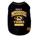 Property of Missouri Tigers Black Pet T-Shirt