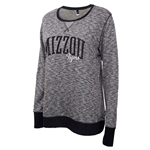 Mizzou Tigers Women's Black Crew Neck Sweatshirt
