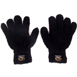 Mizzou Tiger Head Black Fuzzy Gloves