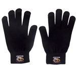 Mizzou Tiger Head Text Touch Black Gloves