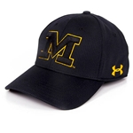 Mizzou Under Armour Men's Block M Black Stretch-Fit Hat