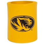 Mizzou Oval Tiger Head Gold Can Cover