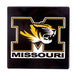 Mizzou Tiger Head Black Marble Paperweight
