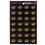 Mizzou Oval Tiger Head Stickers Set of 28