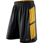 Mizzou Nike Dri-Fit Black & Gold Shorts
